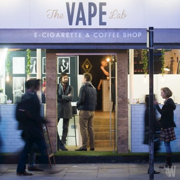 Vapers in London welcome their first e-cigarette coffee shop